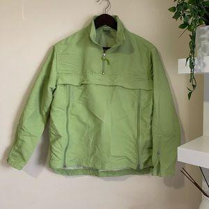 Nike green running jacket windbreaker